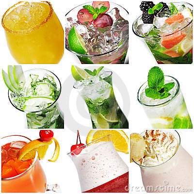 Free Cocktail Collage Royalty Free Stock Images - 9805929