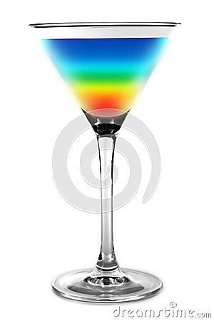 Cocktail couleurs d 39 arc en ciel photographie stock for Cocktail 3 couleurs