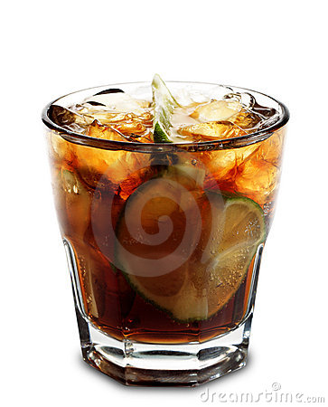 Free Cocktail - Cuba Libre Stock Image - 6654921