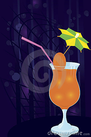 Cocktail- decorated-with-umbrella-toothpick