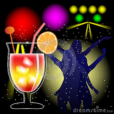 Cocktail and discotheque