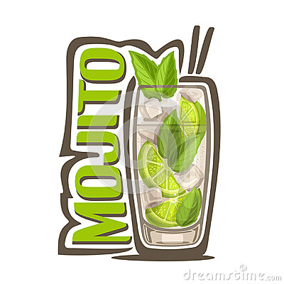 Cocktail Mojito Vector Illustration