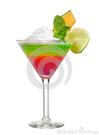 Free Cocktail On White Stock Photography - 103198902