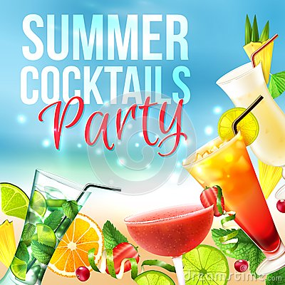 Free Cocktail Party Poster Royalty Free Stock Photography - 46943137