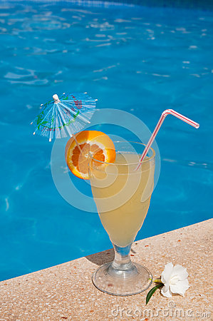 Cocktail by the pool