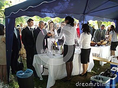 Wine tasting Editorial Stock Image