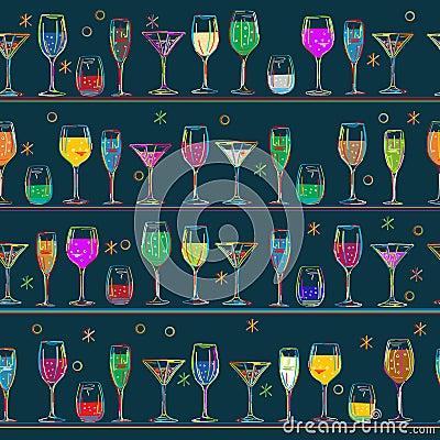 Cocktail s pattern design