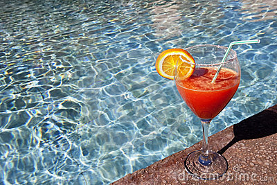 Cocktail at swimming pool