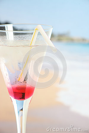 Cocktail on a tropical beach