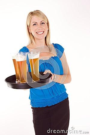 Free Cocktail Waitress Royalty Free Stock Image - 10143086