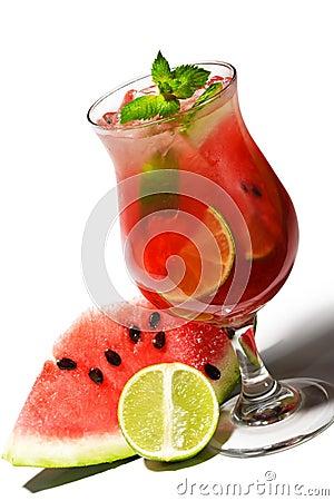 Free Cocktail - Watermelon Caipirinha Royalty Free Stock Photography - 11637437