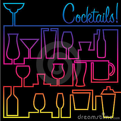 Free Cocktails! Stock Image - 20249671
