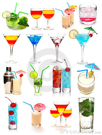 Free Cocktails Collection Royalty Free Stock Photos - 7086018
