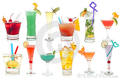 Cocktails de fantaisie de boissons