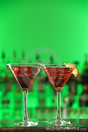 Free Cocktails In Martini Glasses Stock Image - 12751031