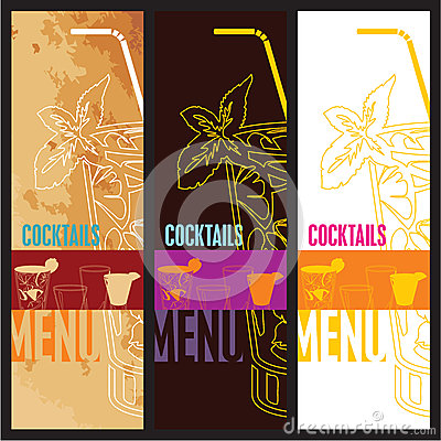 Cocktails Menu Card Design template