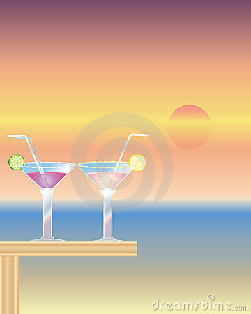 Cocktails at sundown