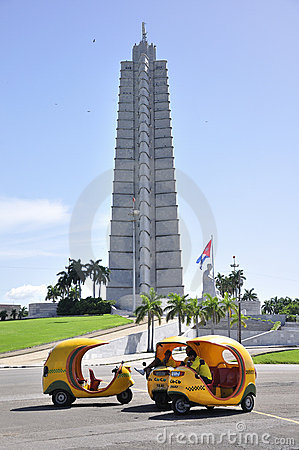 Coco taxis in Havana, Cuba Editorial Photography
