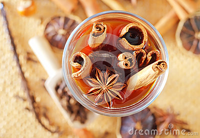 Cocoa with aroma spice