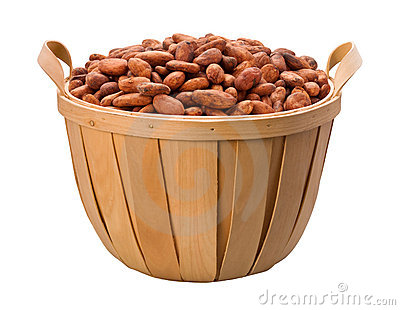 Cocoa Bean Basket isolated