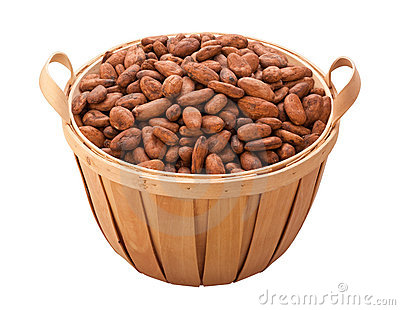 Cocoa Bean Basket (with clipping path)
