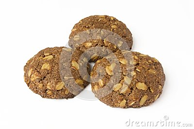 Cocoa cookie with oat-flakes