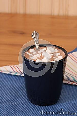 Cocoa with mini marshmallows
