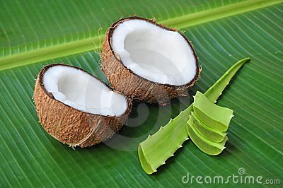 Coconut and aloe vera