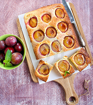 Free Coconut And Plum Cake Royalty Free Stock Photography - 43763707