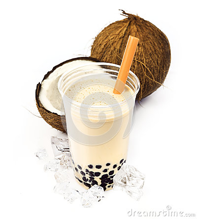 Free Coconut Boba Bubble Tea Stock Photo - 25401510