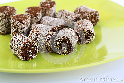 Coconut and chocolate candies