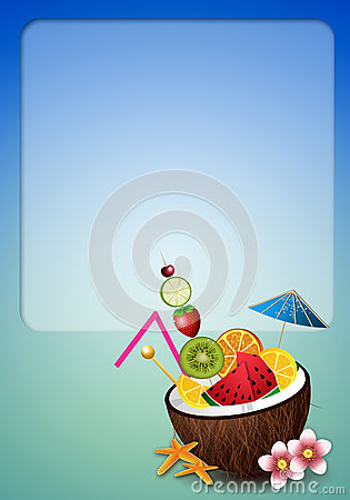 Free Coconut Drink With Fruits Stock Photos - 42470913