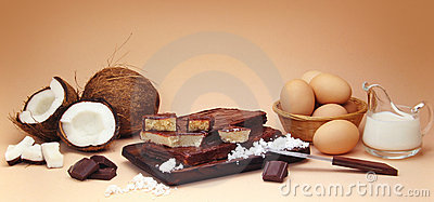 Coconut fudge composition with ingredients