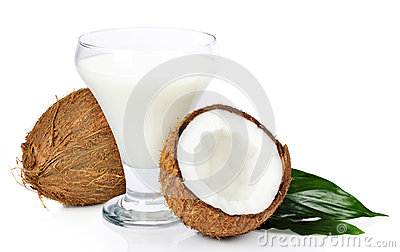 Coconut with juice