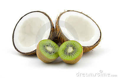 Coconut and kiwi