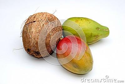 Coconut, Mango and Papaya