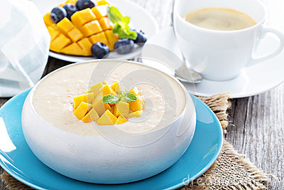 Coconut Mango Rice Pudding Stock Photo - Image: 48828533