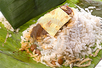 Coconut Rice in Banana Leaf