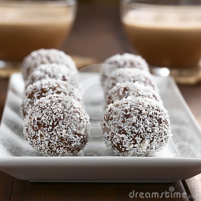 Free Coconut Rum Balls Stock Image - 61151191
