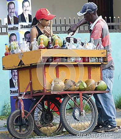 Coconut Seller at Presidency Campaingn Editorial Image