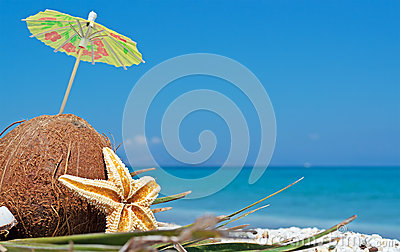 Coconut under parasol