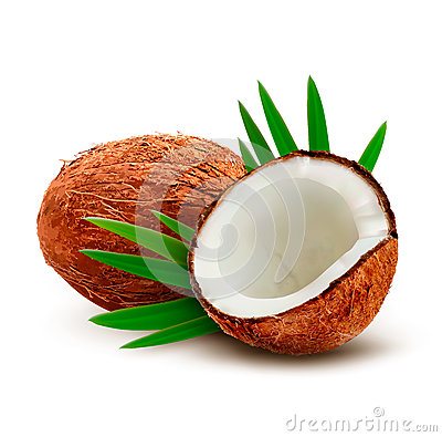 Free Coconut With Leaves. Stock Photography - 43713202
