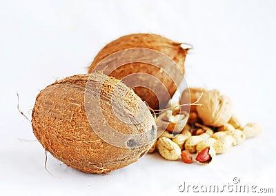 Coconuts close up
