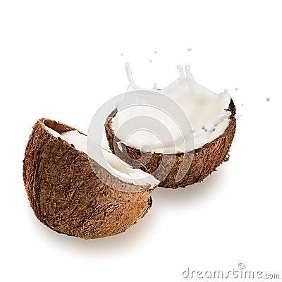 Coconuts with milk splash