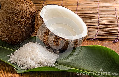 Coconuts with sea salt