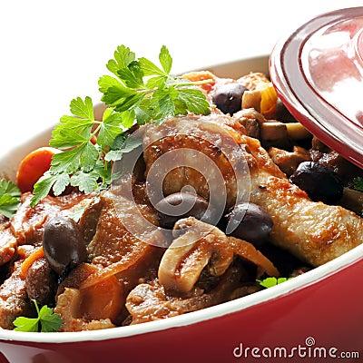 Cocotte en terre de poulet