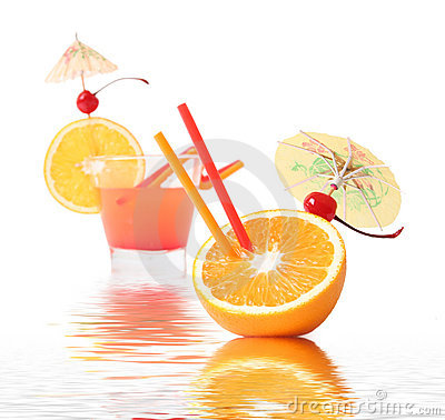 Coctail in water