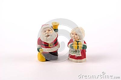 Coctelera de sal y de pimienta de la Navidad