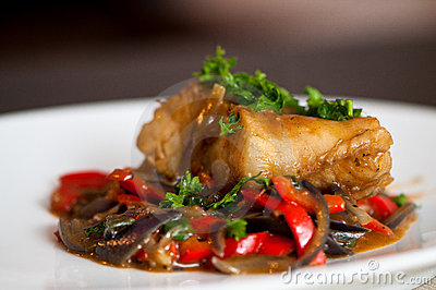 Cod fillet with vegetables