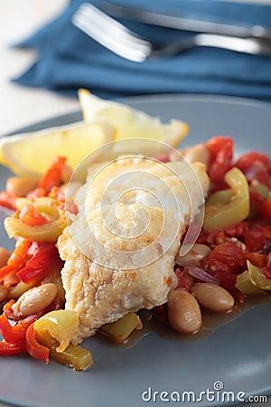 Cod fillet with vegetables